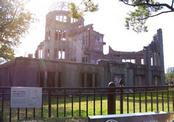The A-bomb Dome in Hiroshima - less than 500 ft away from the bomb's epicenter, it's the closest building to withstand the explosion.