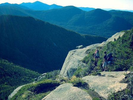 moutains and backpackers