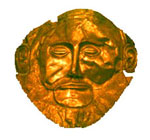 "A so-called ""death mask"" from Mycenae"