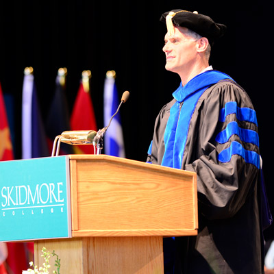 Mark Youndt  speaks at Skidmore College 2017 Commencement