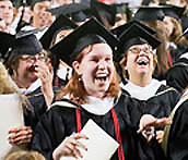 Graduates at Commencement 2011