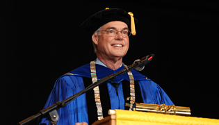 President Glotzbach at Commencement, 2014