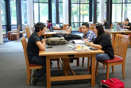Studying in Scribner Library (Photo by Lauren Bosche '15)