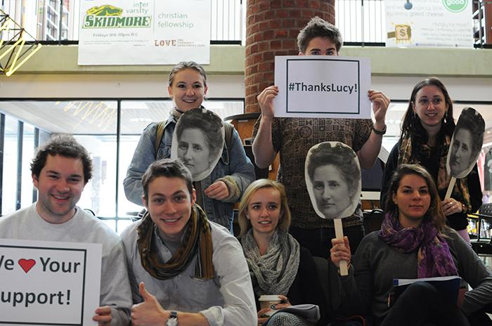 A group of students participates in Philanthropy Day (photo by Anna Sand '16)