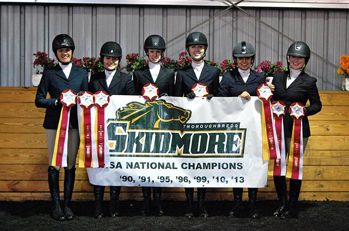 Skidmore Equestrian Team (photo by Lauren Bosche '15)