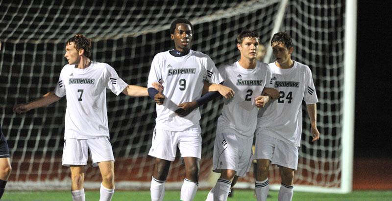 Skidmore offers 19 varsity sports, including men's and women's soccer.