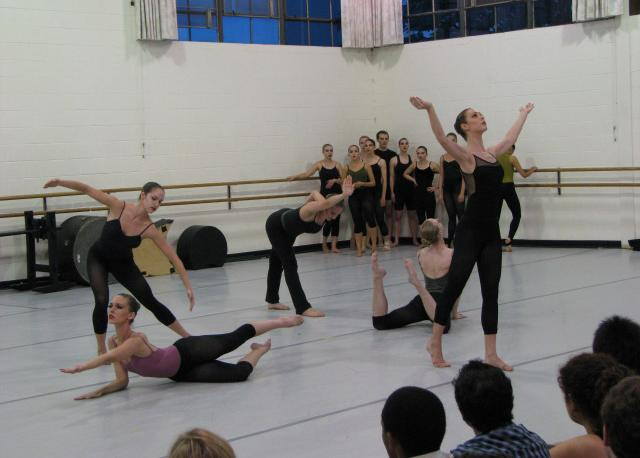 Workshop Students rehearsing with MGDC to perform at SPAC, 2008