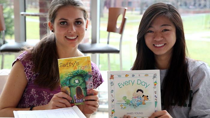 Skidmore book drive. Photo by Lauren Elsner '13
