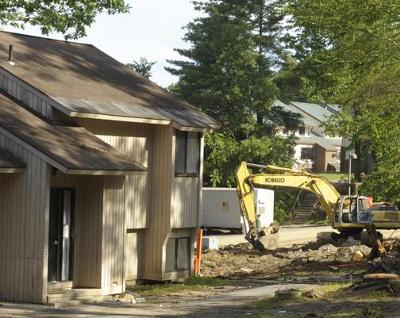 Phase 3: the demolition of Scribner and construction of seven new apartment buildings on the site.