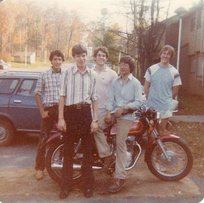Some of the house members from Pine D in September 1979. Submitted by Robert Ford '83.
