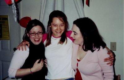 Alison Pruchansky '02 with Rachel  Rodek and Kate Nedelman in Fain A.