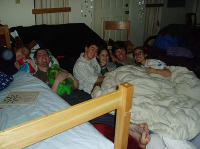 Sleepover in Sumac B 2006! Submitted by Molly Lemire '07.