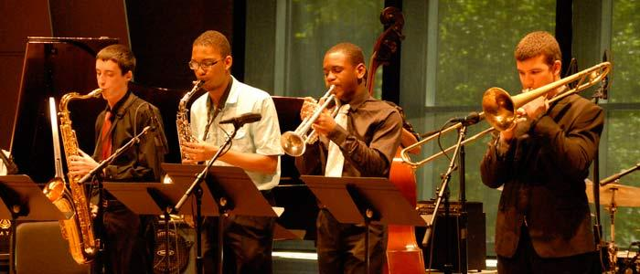 Skidmore Jazz Institute student concert in the Arthur Zankel Music Center