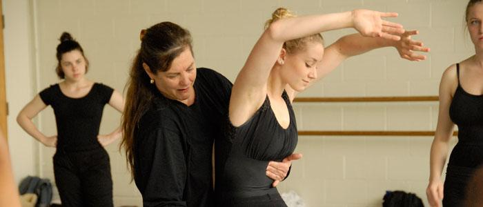 Participants in the Summer Dance Workshop receive hands-on training from professional dancers.
