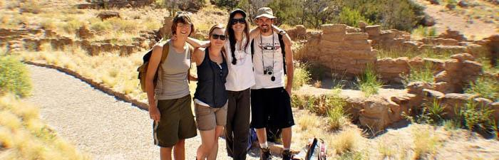 Sara Low '13, second from right, used her SEE-Beyond grant to expand her grasp of archaeological techniques at the Taos Collaborative Archaeology Program in New Mexico.