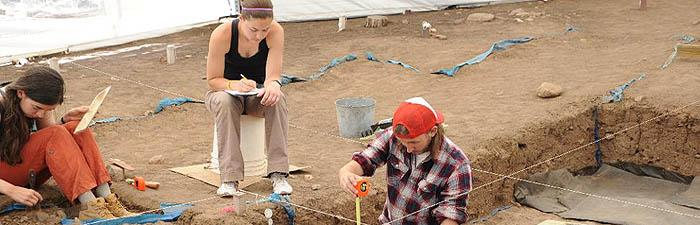 Sara Low '13 (far left) used her SEE-Beyond grant to expand her grasp of archaeological techniques at the Taos Collaborative Archaeology Program in New Mexico.