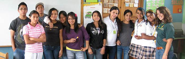 Jane Dowd '14 with her segundo basico class, 'Education Internship with Safe Passage, Guatamala'