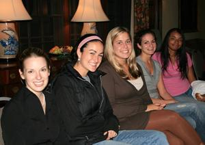 The Charlotte Goodman Annual Fall Women?s Studies Dinner, October 2007. Program students Caitlin Fitzpatrick, Emily Goodman, Dana Marett, Charlie Wofson, Julay Grant.