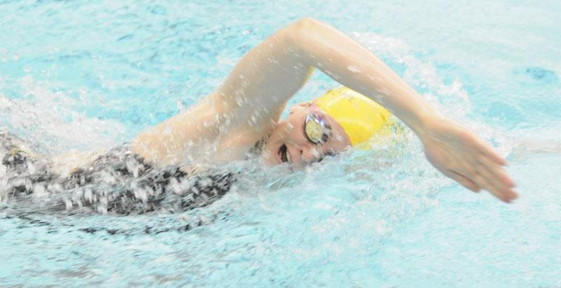 Skidmore offers 19 varsity sports, including men and women's swimming and diving.