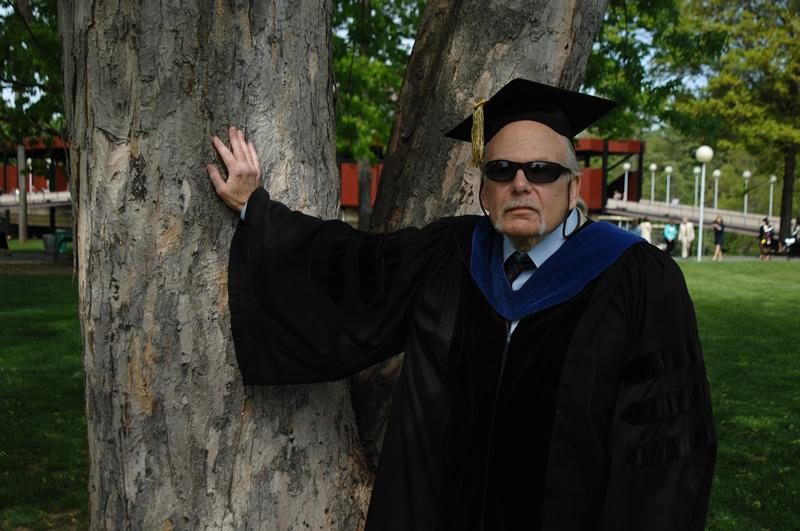 Roy Meyers, professor of biology, who is retiring after 41 years.