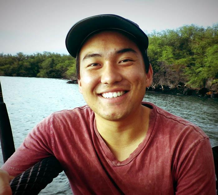 Joshua Inaba '14, an environmental studies major, is returning to his native Hawaii to assist in the Nature Conservancy's efforts to save marine habitats and fish species in Kiholo Bay.