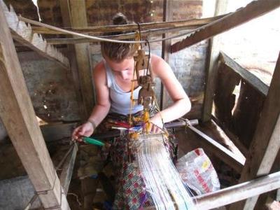Ghana - Victoria Vitale - Kente Weaving Lesson - 2010