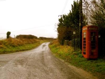 United Kingdom - Jennifer Zacharia - A Lone Red Telephone Box in the English Countryside - 2011