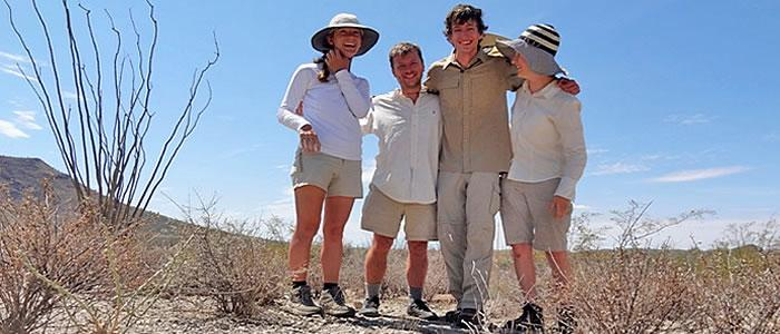 Students join Professor Ness to study consequences of climatic variation and biodiversity in Sonoran Desert.