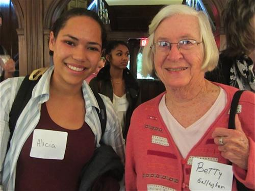 Major from Class of 2015 attends intergenerational event