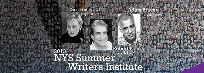 A few of the guests of the 2013 NYS Summer Writer's Institute