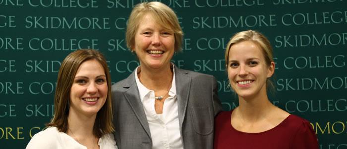 Thyra Johnson 2008, Dr. Patricia Fehling, Abigail Lukens 2008.