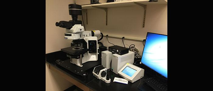 Olympus BX63 light microscope with time laps function