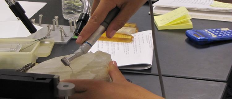 Collecting micro samples of calcite