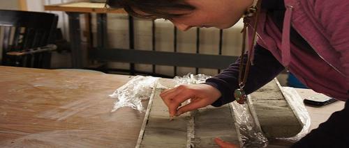 Analyzing a mud core sample