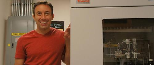 Brian Frappier, Lab manager with Kiel device