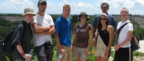 Field work, Mayapan, Yucatan