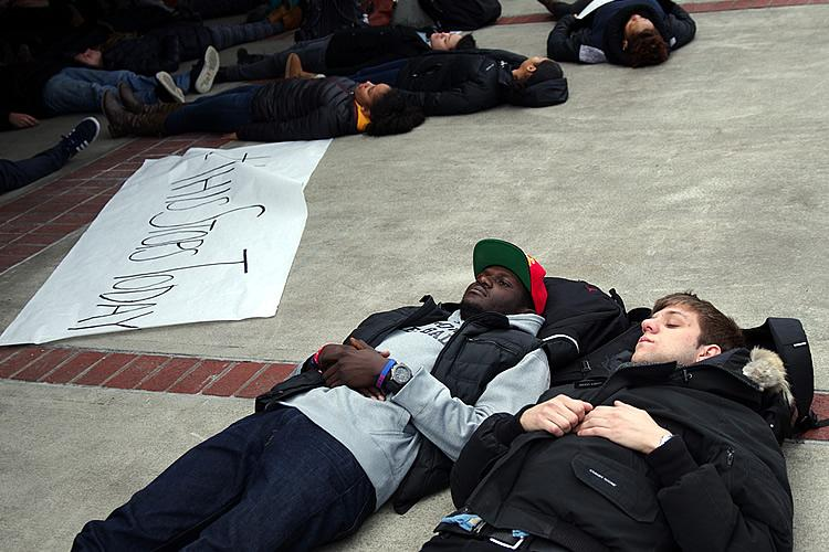 Students, Staff and Faculty - Die-In, Fall 2014