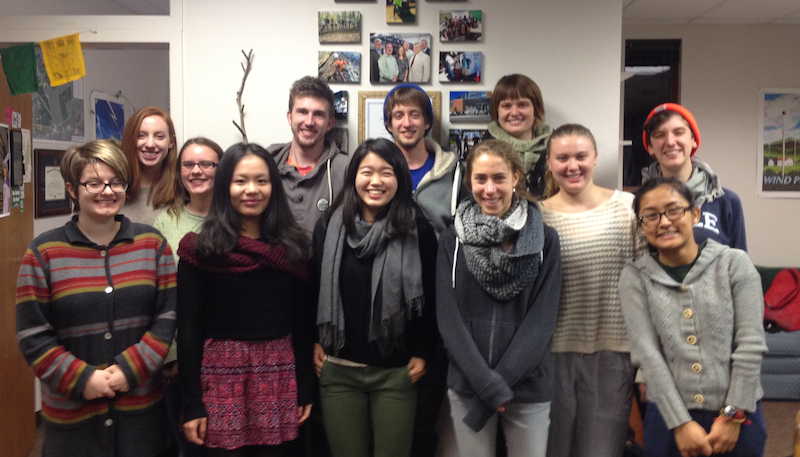 Student sustainability staff and volunteers lead many sustainability programs at Skidmore.
