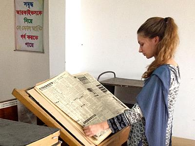 Rachel Castellano '16, a double major in International Affairs and Government, is spending the summer in Dhaka as a research intern for the Bangladesh Institute for Peace & Security Studies.