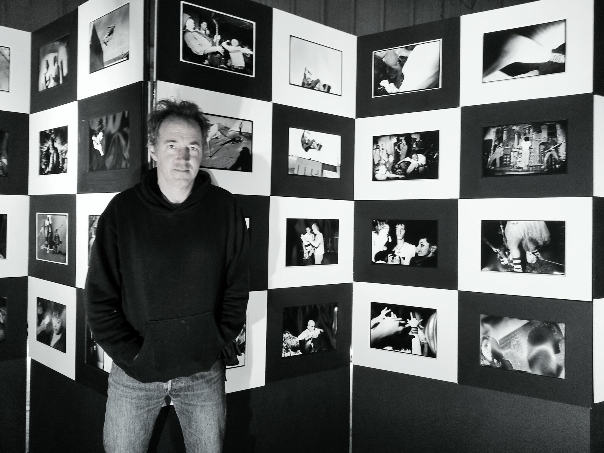 Bill Daniel with Tri-X Pop-Up Exhibit