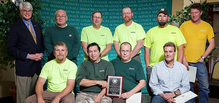 The Grounds Department received the President's Award for 2015