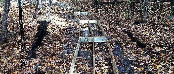 A new boardwalk was constructed in the North Woods