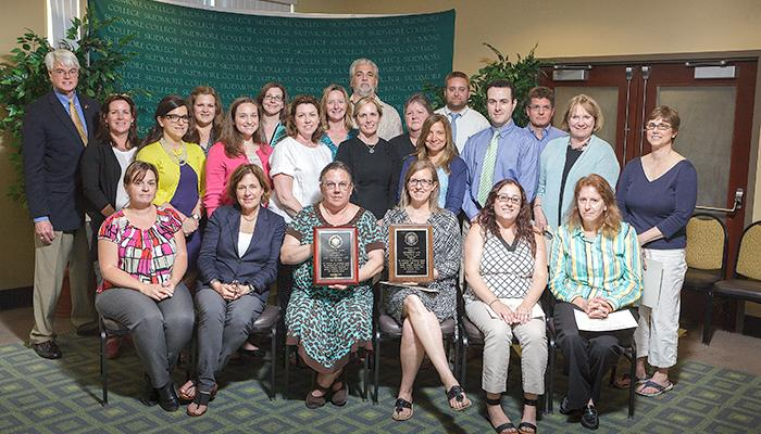 Admissions and Financial Aid staff, recipients of the President's Award