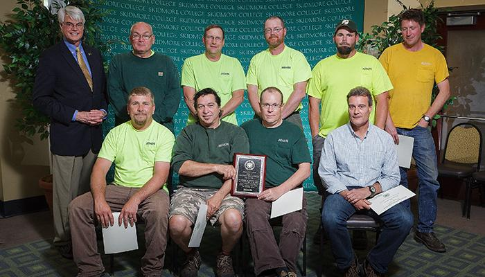 Grounds crew, recipients of the President's Award