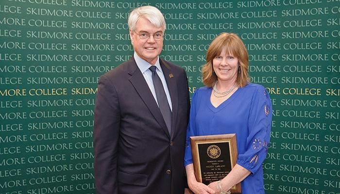 Wendy LeBlanc, winner of the President's Award