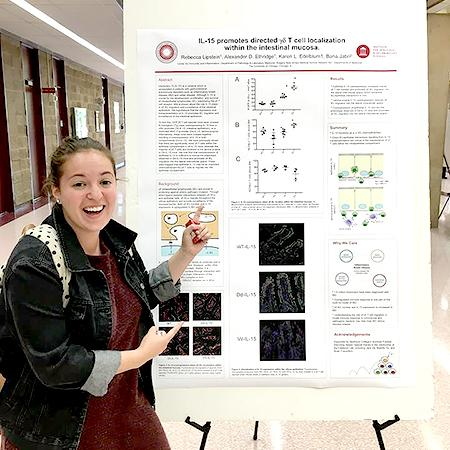 Becca%20Lipstein%20%2717%20worked%20as%20a%20research%20assistant%20at%20the%20Center%20for%20Immunity%20and%20Inflammation%20at%20Rutgers%20New%20Jersey%20Medical%20School%20in%20Newark%2C%20NJ.