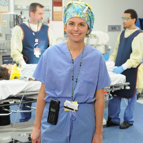 Elizabeth Kingsbury 1983. Operating Room Nurse at Boston Children's Hospital.