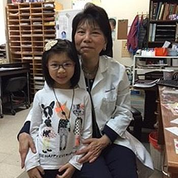 Elaine Choy Lee, MD 1971. Pediatrician at her own practice in Chinatown, NYC.