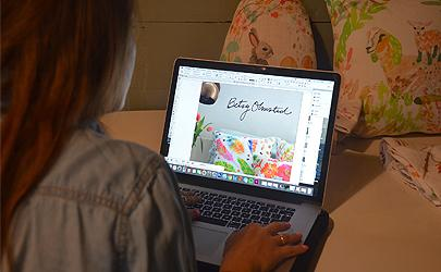 Jennifer Cerutti '18: Betsy Olmstead Print and Repeat Design in Saratoga Springs, NY