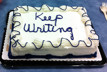 Keep Writing Cake